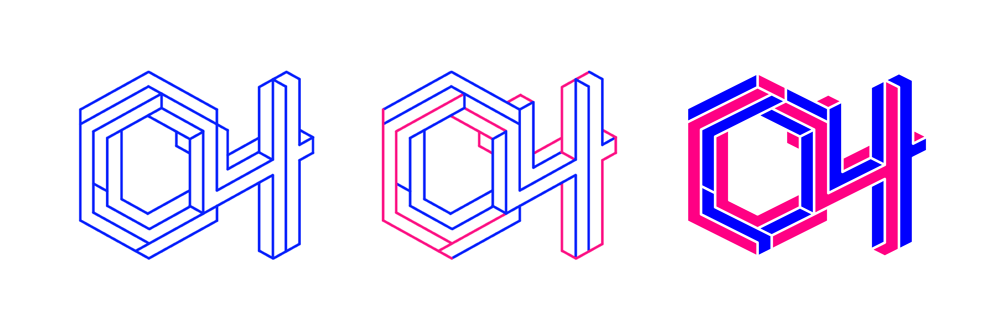 一个等距 logo 的不同配色方案