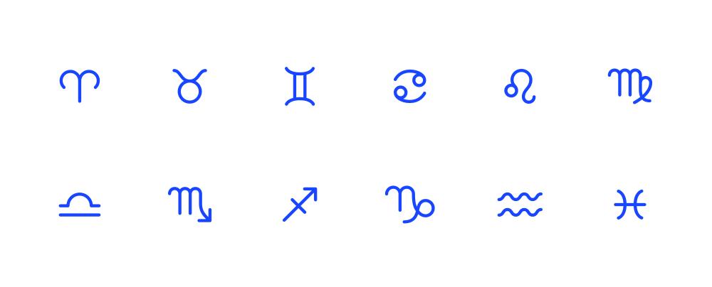 App 内使用的占星术图标